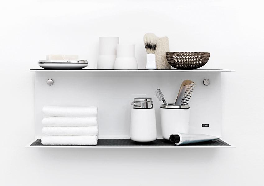 Vipp badezimmer accessoires seifenspender und schale sowie