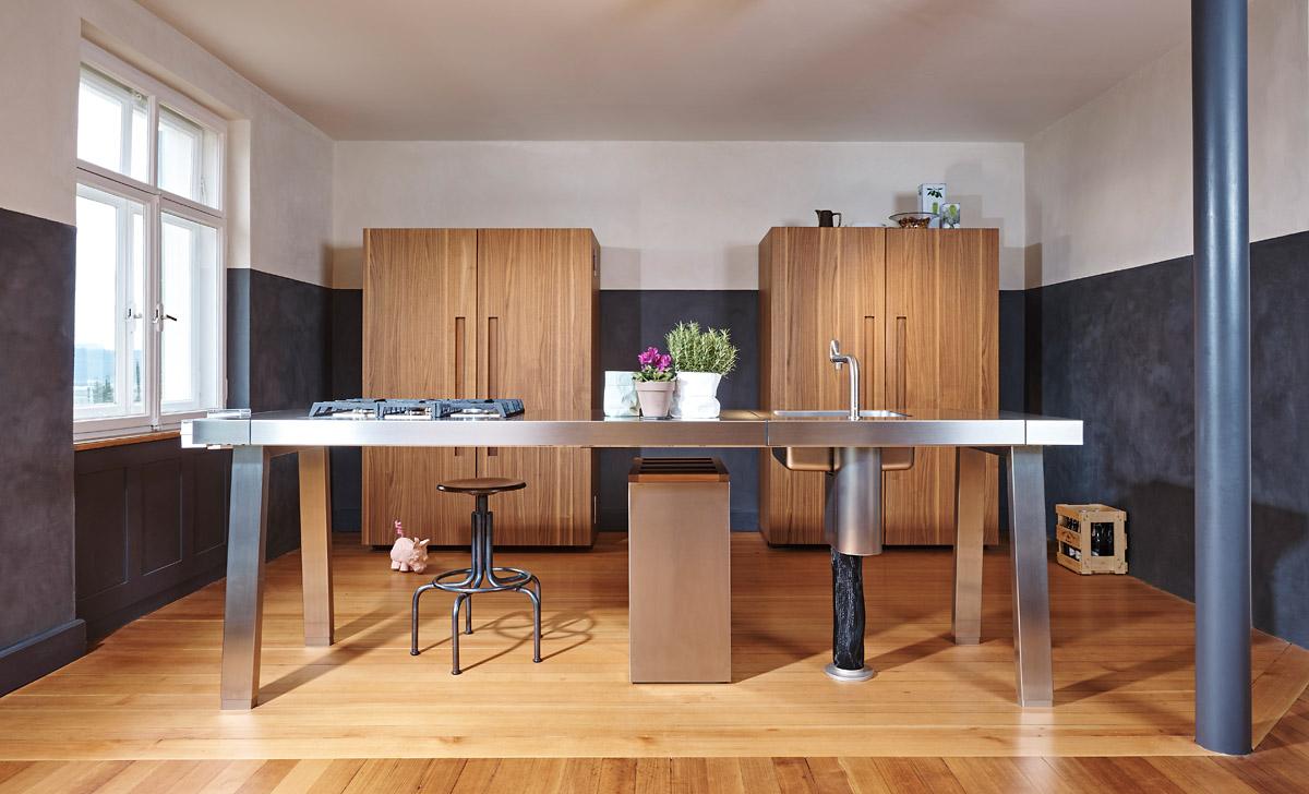 Küche bulthaup b2 mit Einbaugeräten von Miele und Gaggenau
