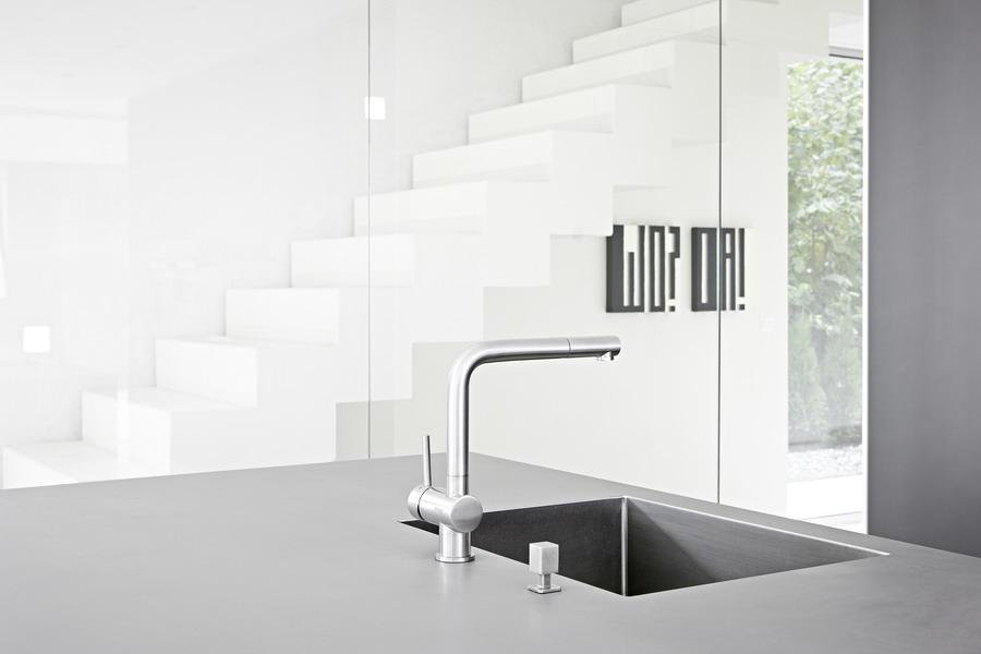 k che bulthaup b3 mit einbauger ten von miele gaggenau und bora. Black Bedroom Furniture Sets. Home Design Ideas