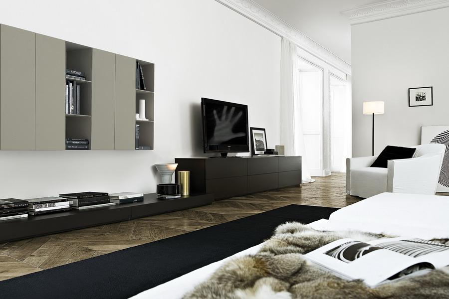Wohnwand designermöbel  Designermöbel der italienieschen Kollektion Poliform finden Sie ...
