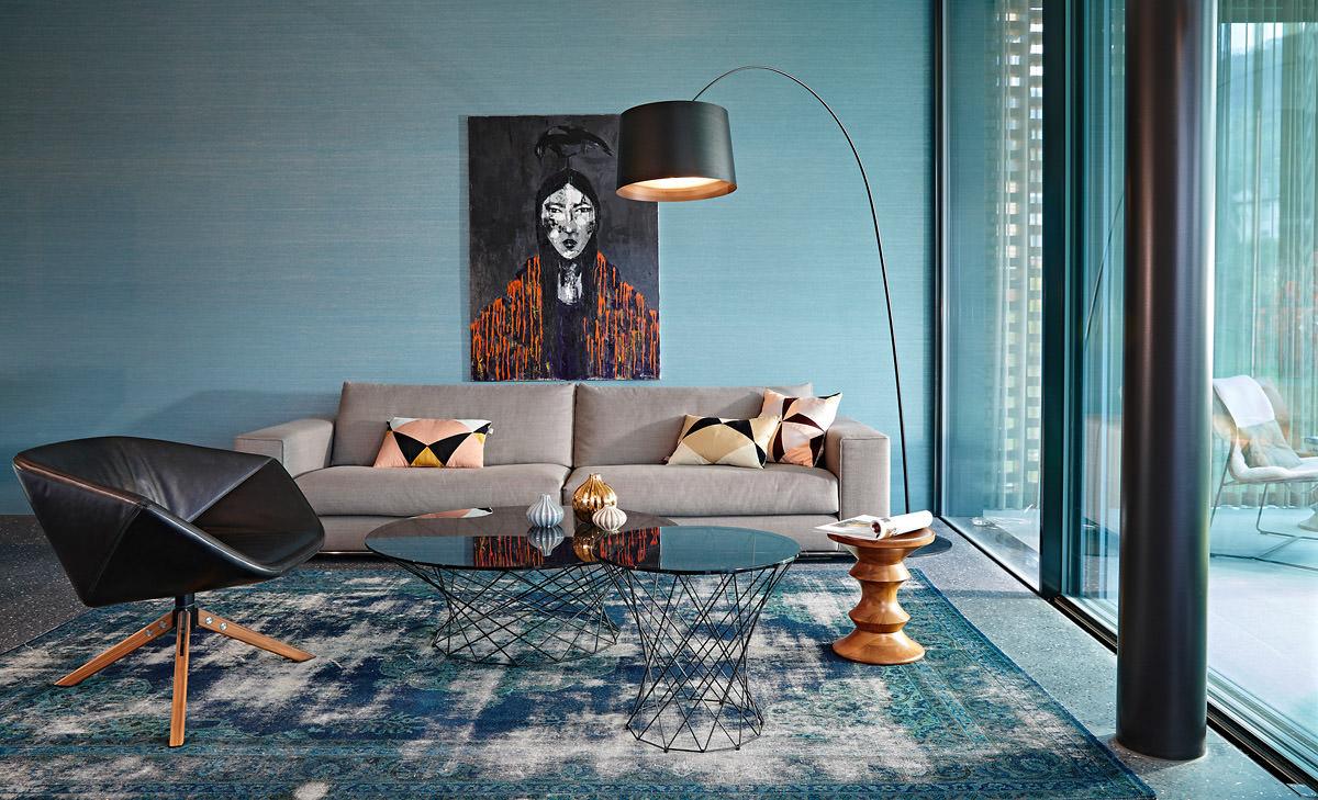 Wohnungseinrichtung kombiniert mit farbe form und material for Wohnen kreativ