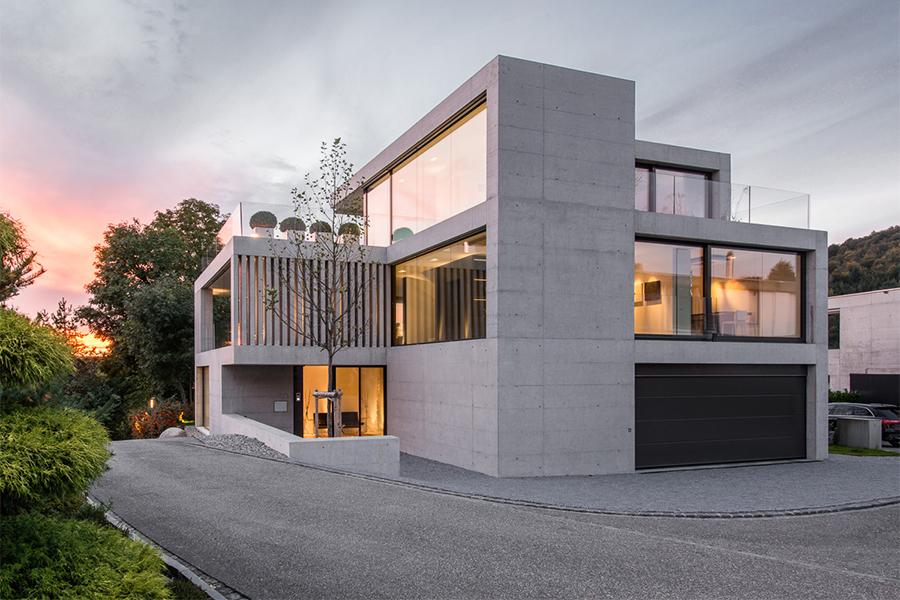 Moderne fensterfronten  Kundenreferenz - Moderner Neubau - Klare Architektur mit ...