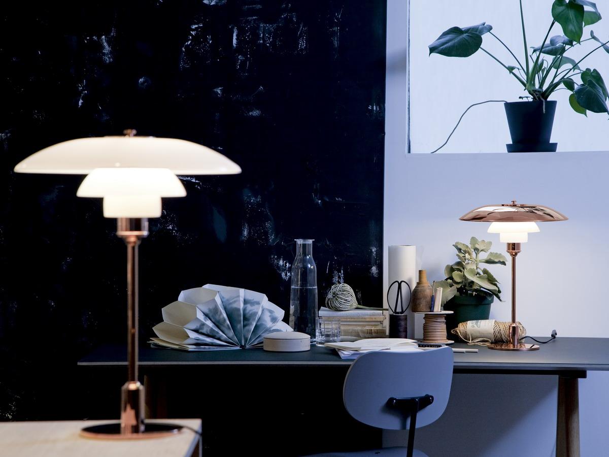 kupfer tischleuchte ph 3 2 von louis poulsen. Black Bedroom Furniture Sets. Home Design Ideas
