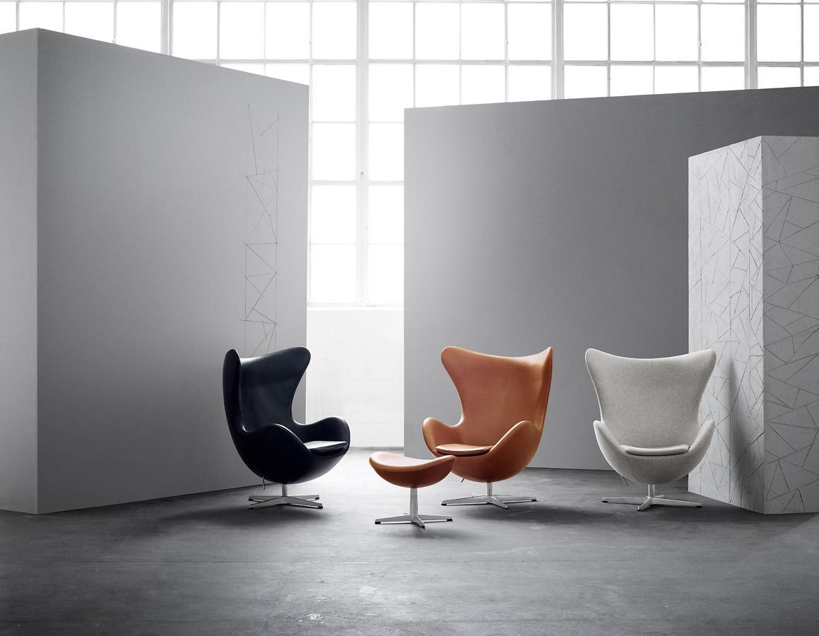 das ei von fritz hansen in aktion. Black Bedroom Furniture Sets. Home Design Ideas