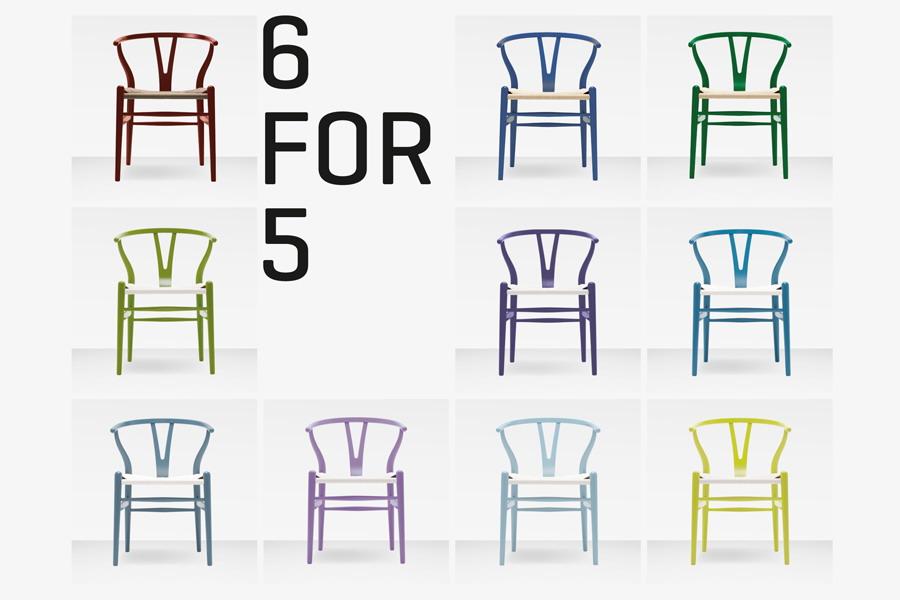 6 wishbone ch24 st hle design hans j wegner f r den. Black Bedroom Furniture Sets. Home Design Ideas