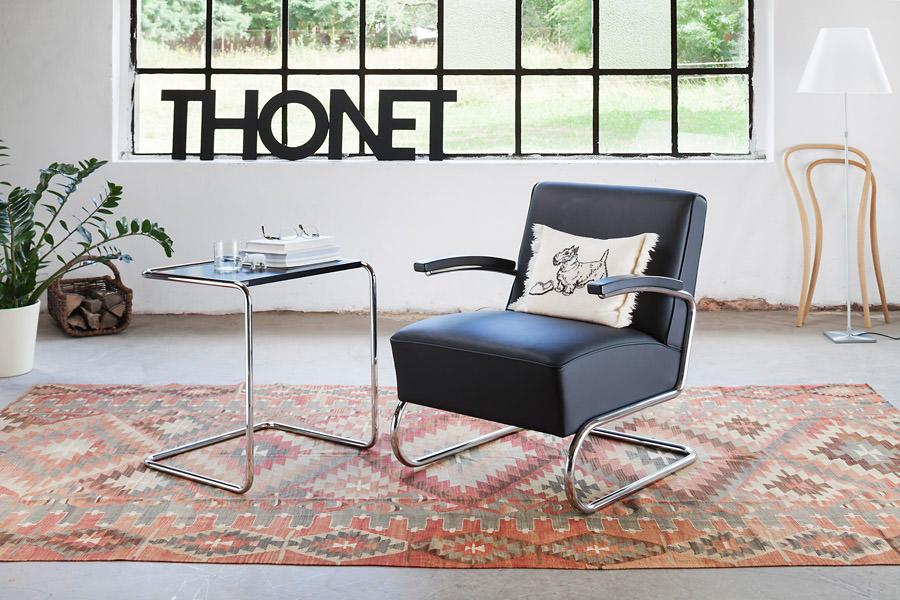 thonet freischwinger s 411 412 kaufen und satztisch b 97 b. Black Bedroom Furniture Sets. Home Design Ideas